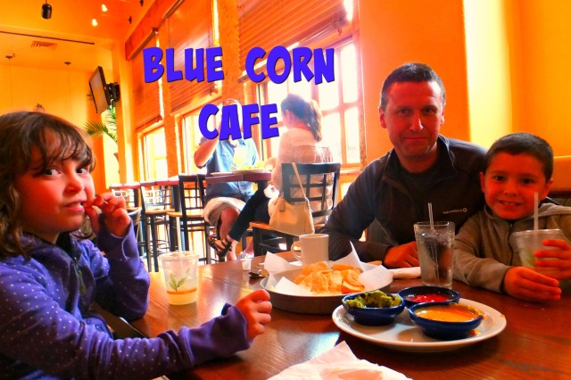dave and kids Blue Corn cafe