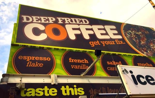 Sign deep fried coffee