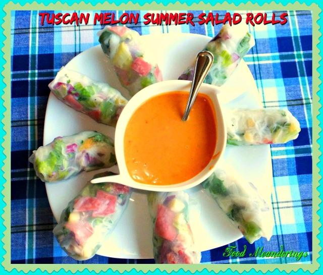 Tuscan Melon summer salad rollls