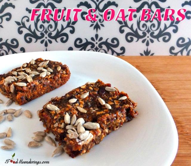 Healthy Fruit & Oat Bars
