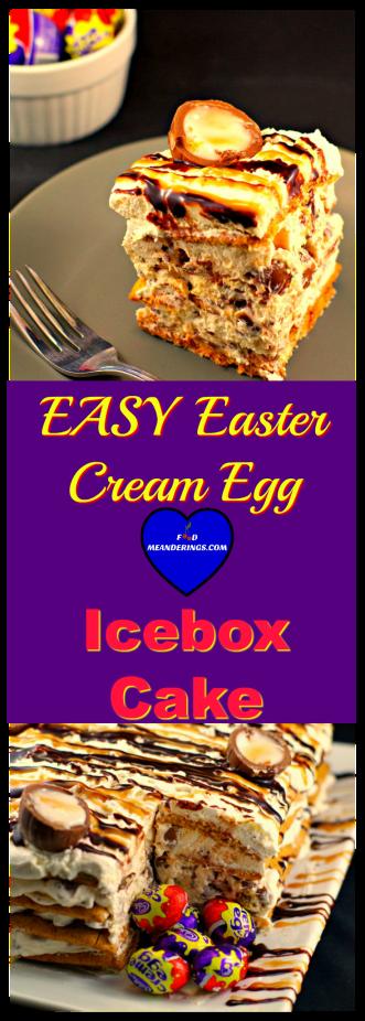 Easy Easter Cream Egg Icebox cake dessert